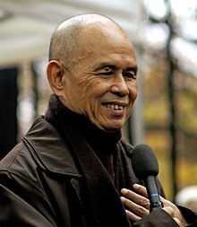 Thich Nhat Hanh blesses food by acknowledging its connection with all of life - see 11/25 post