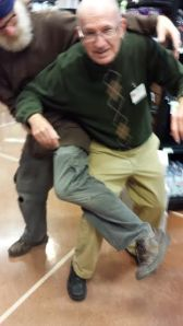Tom and I do contact improv dancing as we pass each other in the store aisles.