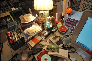 Google pulled this up when I searched for photos of clutter, so I shall call this clutter - and it's much less painful to look at than an actual photo of my room.