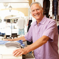 "Male cashiers tend to be young, in school, or else this is a ""retirement job"".  In their middle years they seek more lucrative jobs; if they stay with the store, they tend to get promoted."
